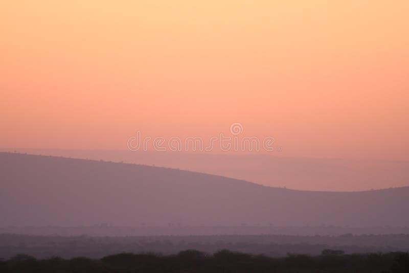 Roze zonsopgang royalty-vrije stock foto's