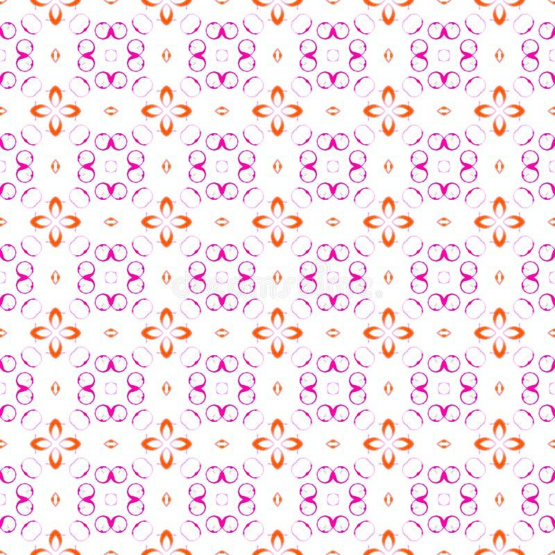 Rozeachtige cirkels naadloos patroon Hand getrokken water stock illustratie