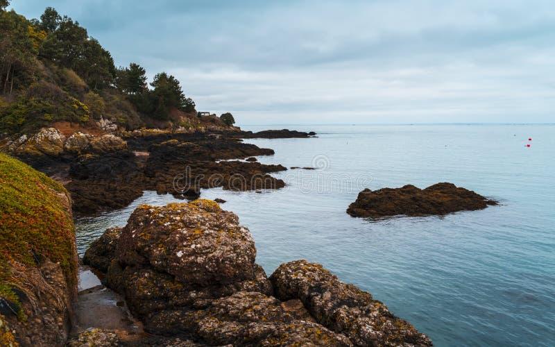 Rozel,泽西,海峡群岛 免版税库存图片