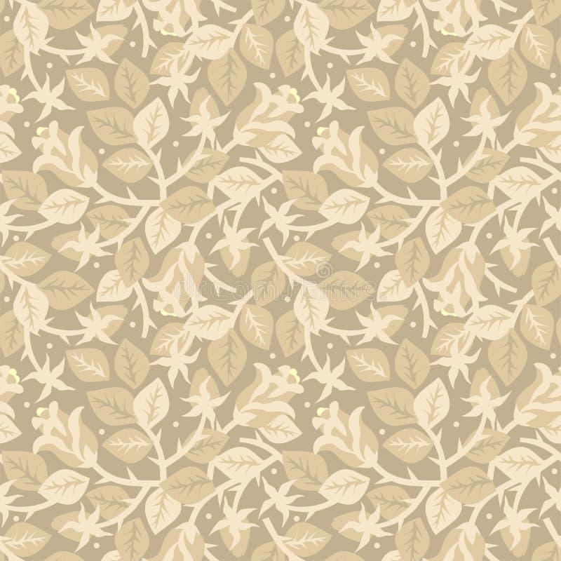 Rozen in bloei bloemen naadloos patroon royalty-vrije illustratie