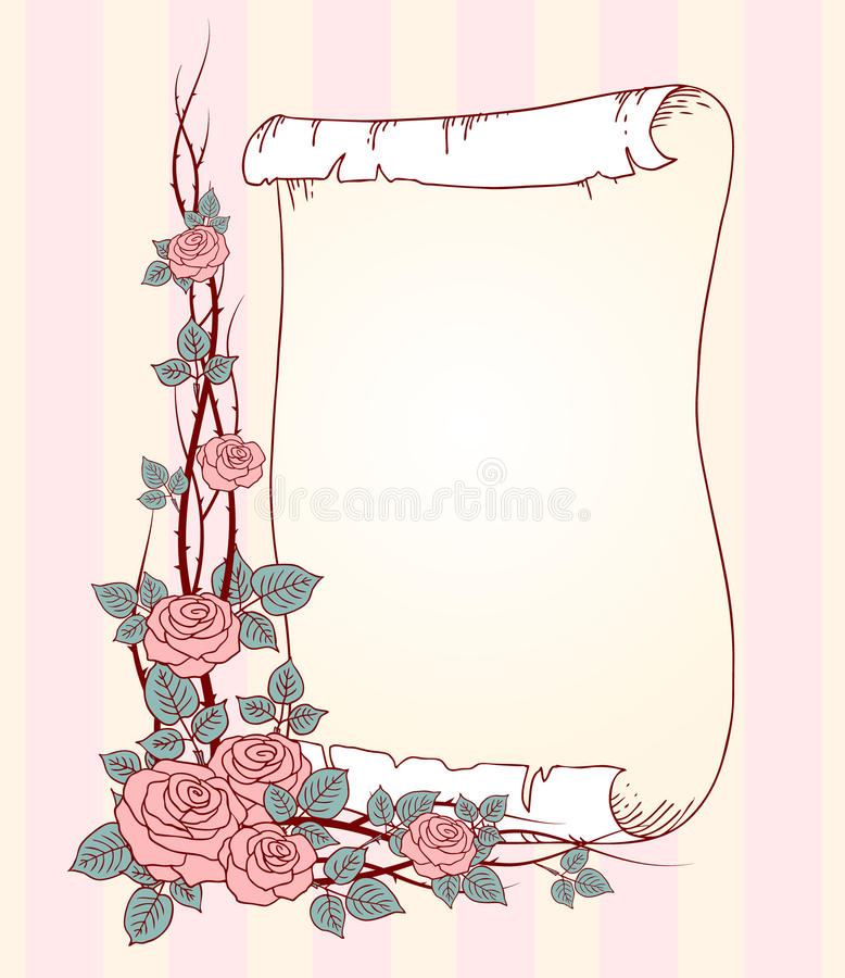 Rozen en broodje vector illustratie