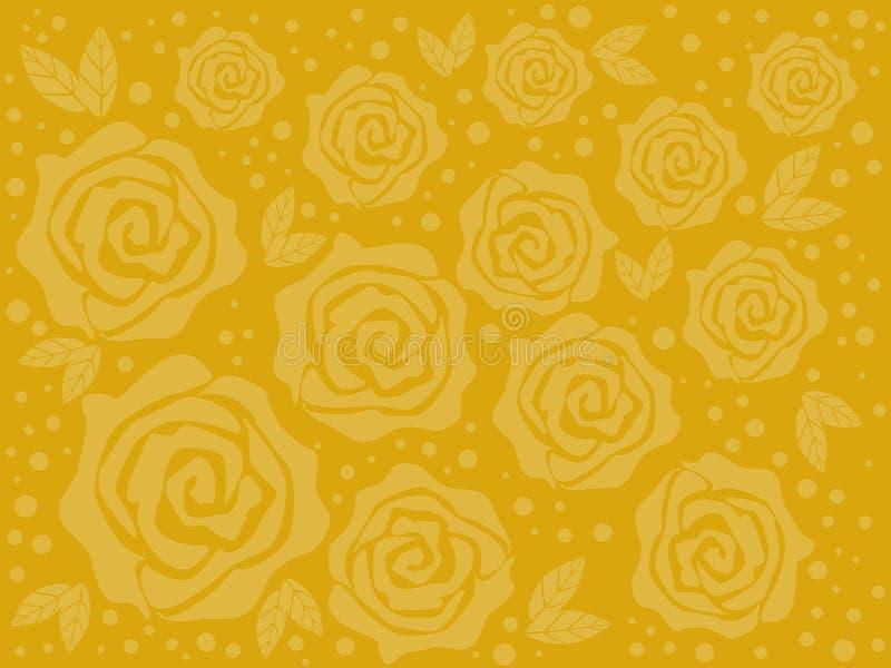 Rozen op een gele achtergrond vector illustratie