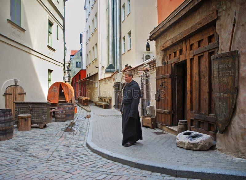 Rozengrals restaurang i Riga latvia royaltyfria bilder