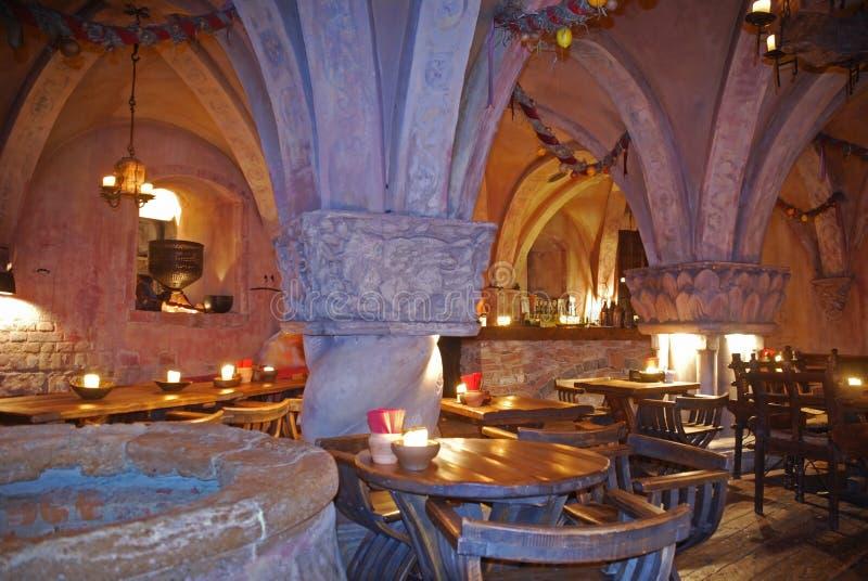 Rozengrals restaurang i Riga latvia royaltyfri bild