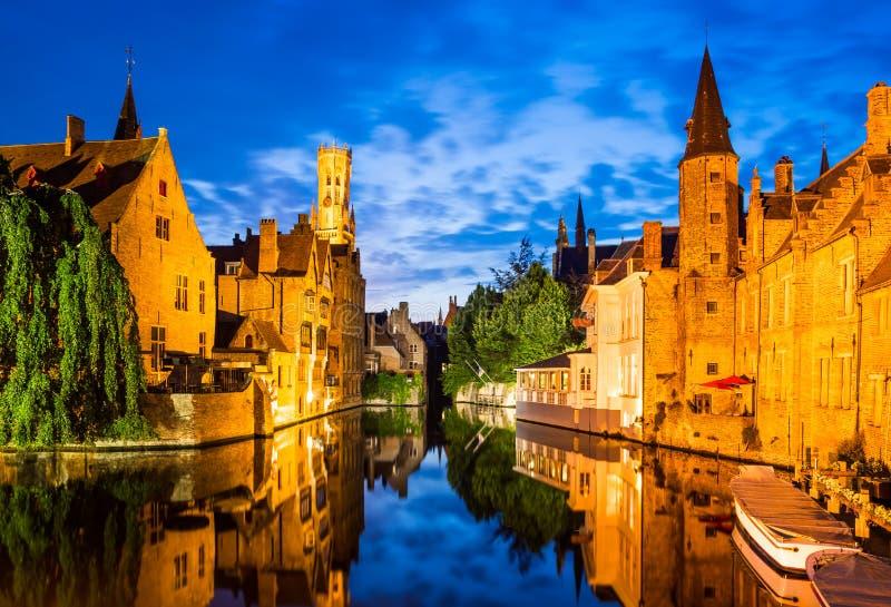 Rozenhoedkaai, Bruges nel Belgio immagine stock libera da diritti