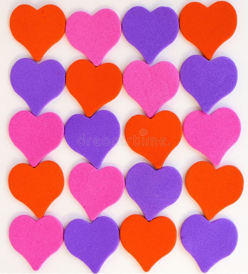 Rozerode blauwe de dagtederheid van de hartenvalentijnskaart stock foto's