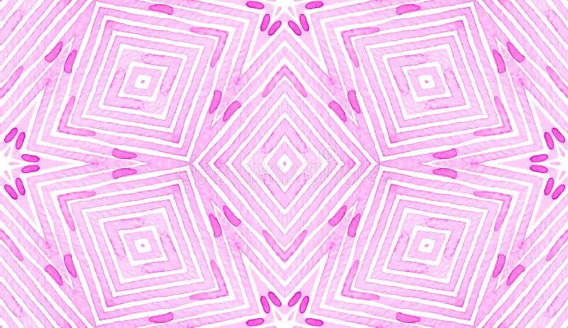 Rozerode Geometrische Waterverf Gevoelig Naadloos P royalty-vrije illustratie
