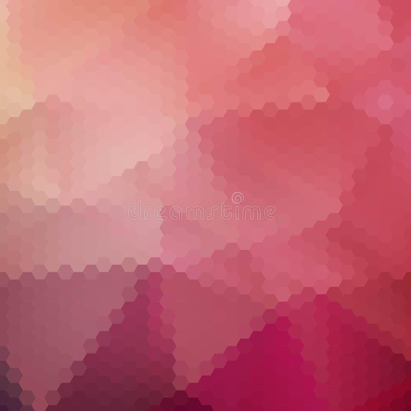 Rozerode zeshoeken Veelhoekige stijl Abstracte vectorachtergrond Eps 10 vector illustratie