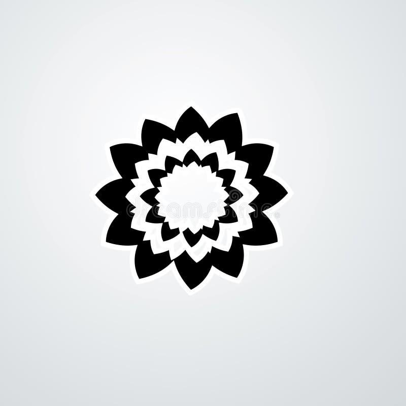 Rozet vectorembleem Diamanten vectorembleem Juwelenembleem stock illustratie