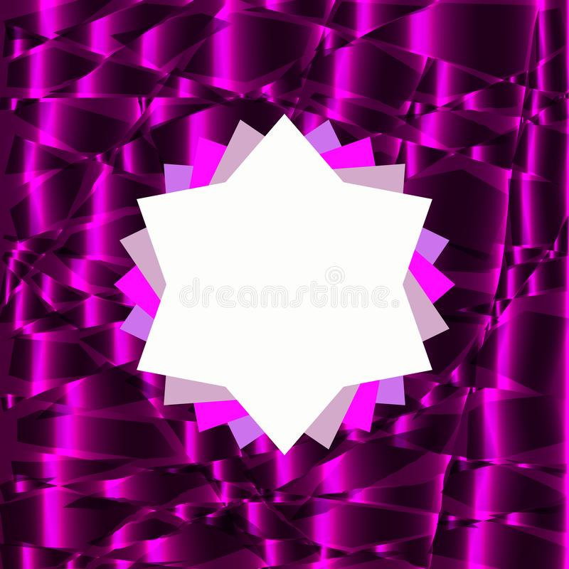 Rozetsymbool op purpere abstracte achtergrond stock illustratie