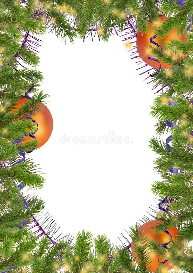 rozgałęzia się bożych narodzeń confetti zabawki drzewne ilustracji