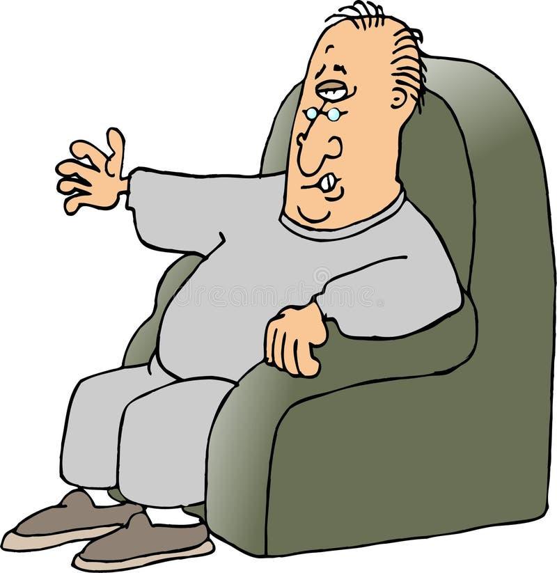 rozgrywający fotel ilustracja wektor