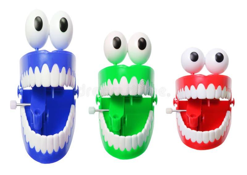 Rozgwarzone ząb zabawki fotografia royalty free