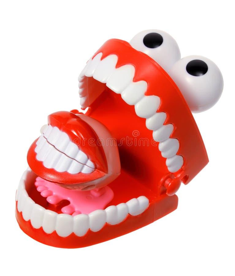 Rozgwarzone ząb zabawki fotografia stock