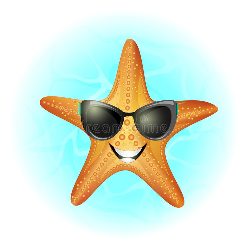 Rozgwiazda w wodzie obrazy royalty free
