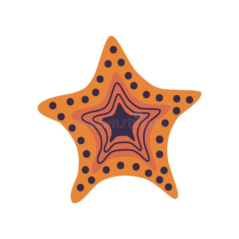 Rozgwiazdy, żołnierz piechoty morskiej lub ocean istoty wektoru ilustracja, ilustracji
