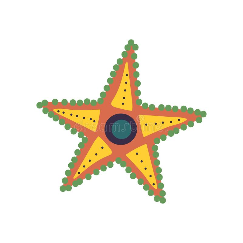Rozgwiazdy, żołnierz piechoty morskiej lub ocean istoty wektoru Podwodna ilustracja, ilustracja wektor