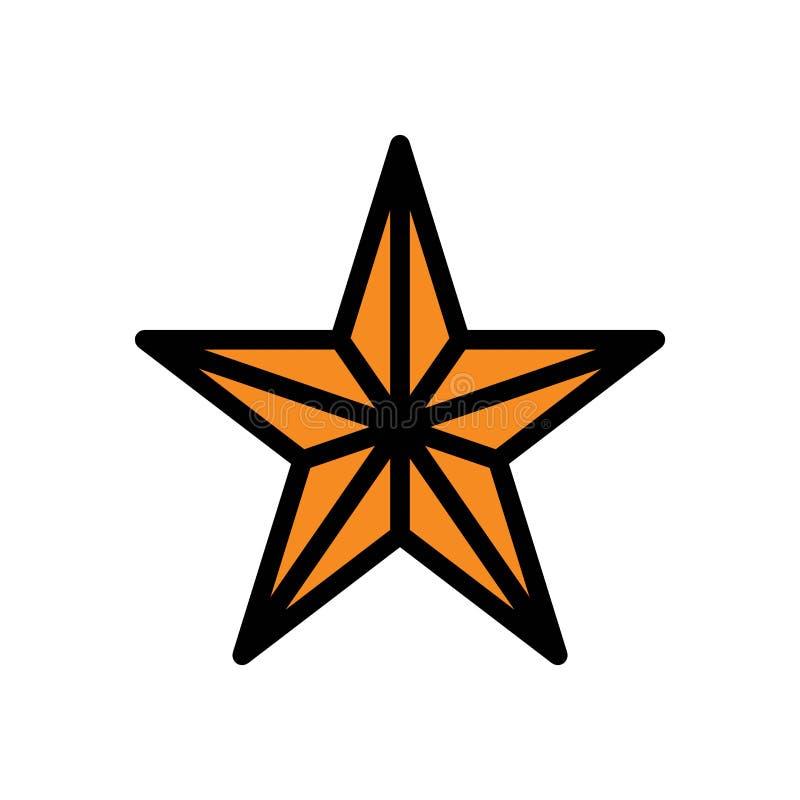 Rozgwiazdy gwiazdowego lata logo wektorowa ikona lub ilustracja Editable kolor i uderzenie Doskonali? u?ywa dla wzoru i projekta  royalty ilustracja