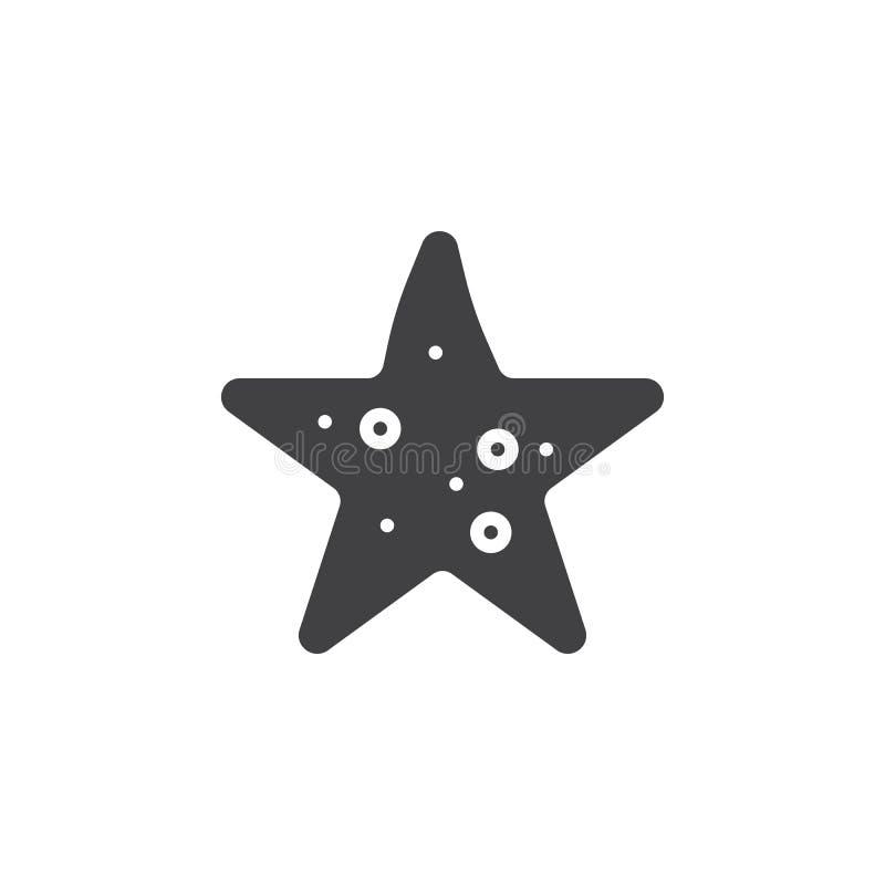 Rozgwiazdy ikony wektor, wypełniający mieszkanie znak ilustracji