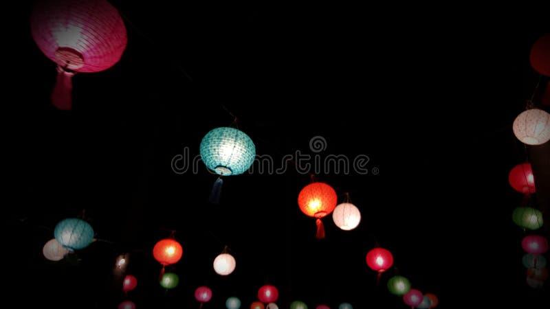 Rozjarzeni Chińscy lampiony fotografia stock