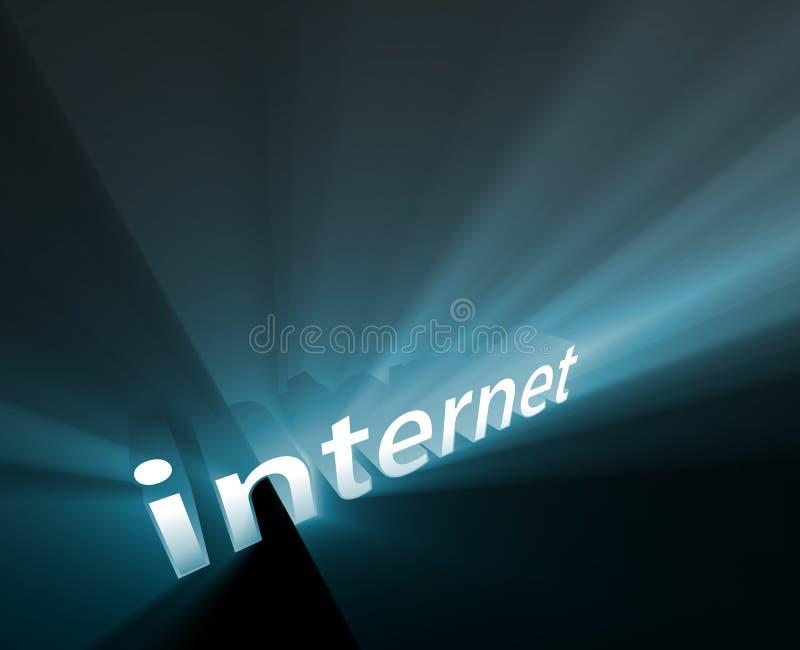 rozjarzeni internety ilustracja wektor