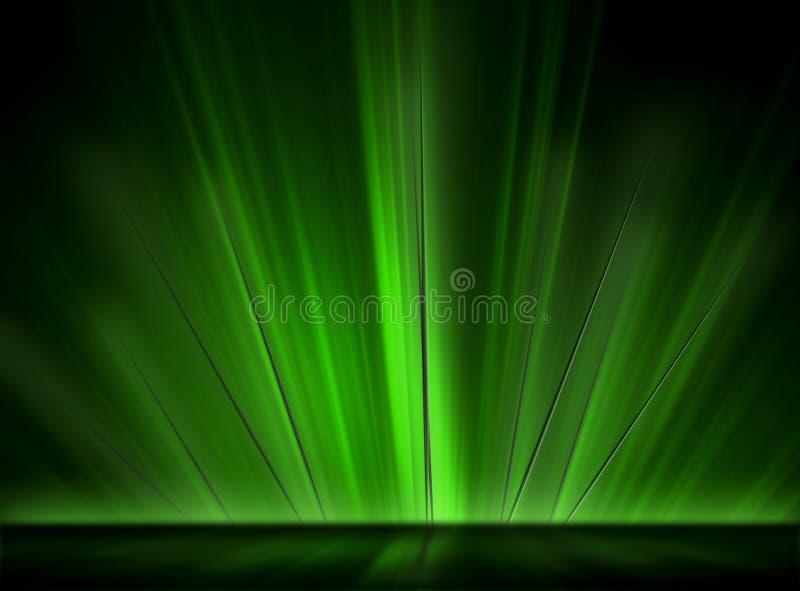 rozjarzeni zieleni kolce ilustracji