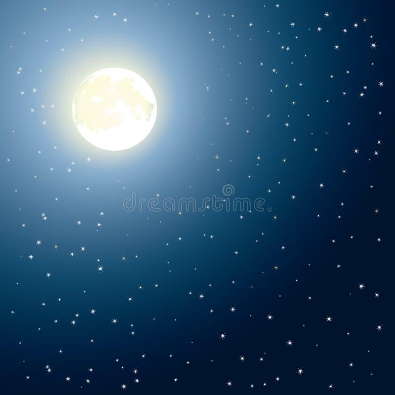 rozjarzona księżyc obraz stock
