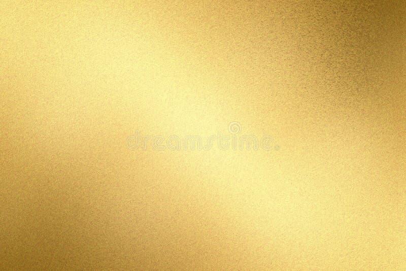 Rozjarzona lekka mosiężna metal ściany tekstura, abstrakta deseniowy tło zdjęcie stock