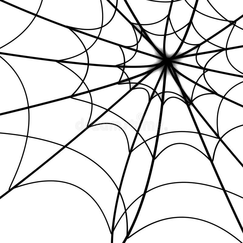 Rozjarzona pająk sieć ilustracja wektor