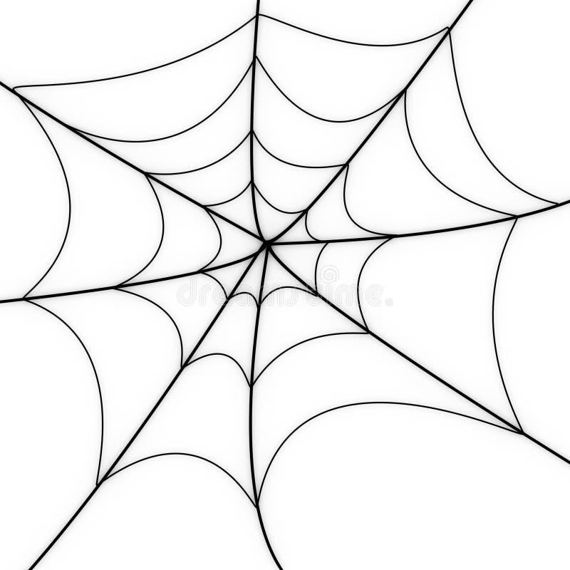 Rozjarzona pająk sieć ilustracji