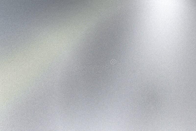 Rozjarzona srebna stalowego prześcieradła powierzchnia, abstrakcjonistyczny tekstury tło obraz royalty free