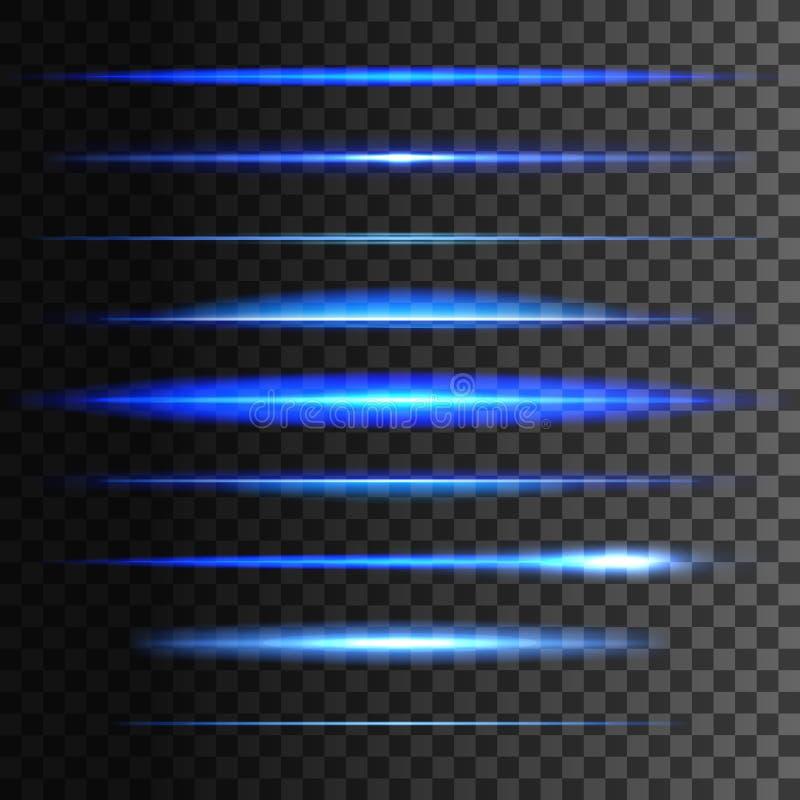 Rozjarzone lekkie linie Wektoru światła łuny skutek ilustracji