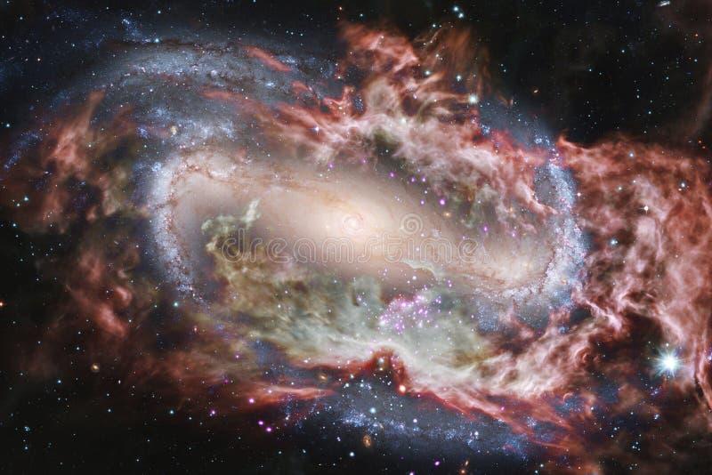 Rozjarzony galaxy, wspaniała fantastyka naukowa tapeta royalty ilustracja