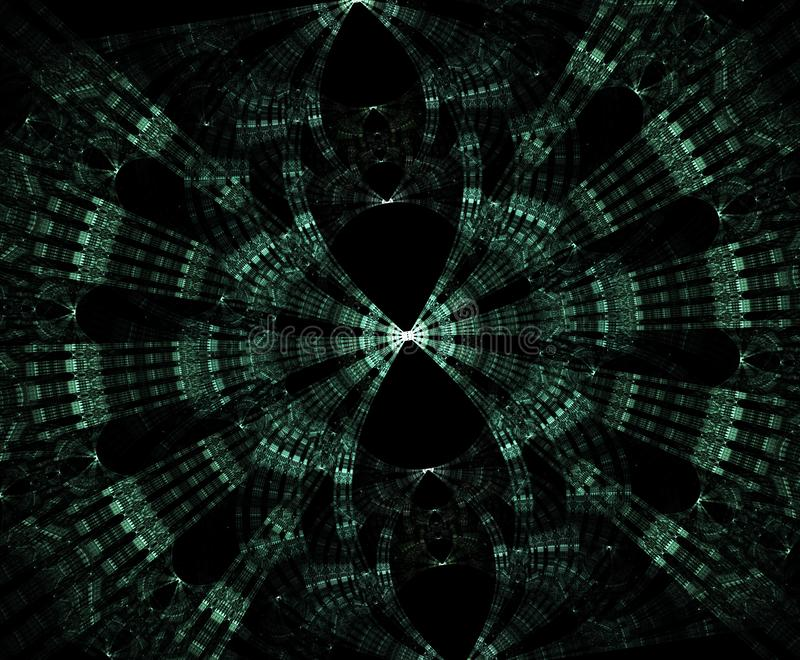 Rozjarzony stargate w przestrzeni, komputer wytwarzał abstrakcjonistycznego tło Galaktyczny koronkowy fractal ilustracji