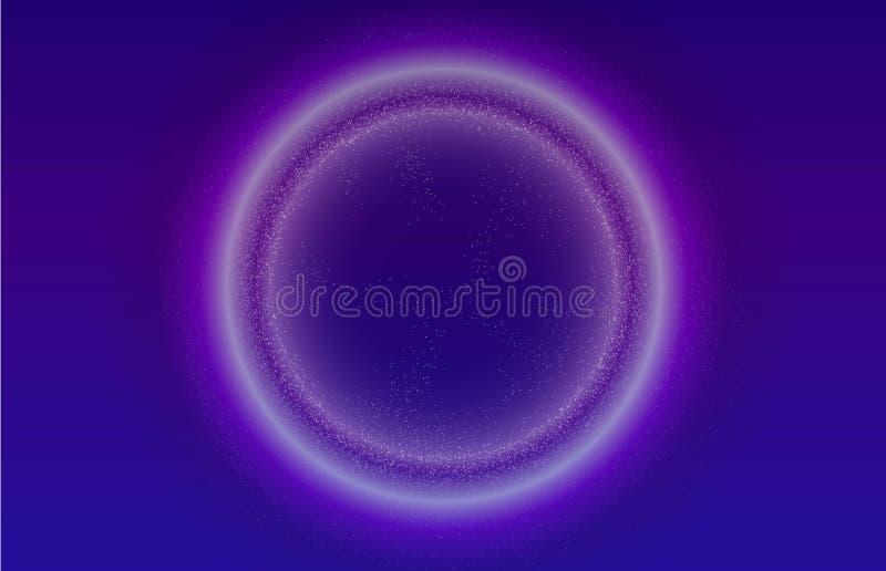 Rozjarzonych cząsteczek ciekły dynamiczny przepływ z rozjarzoną bąbel ramą Modny fluid pokrywy projekt EPS10 wektorowa ilustracja ilustracja wektor