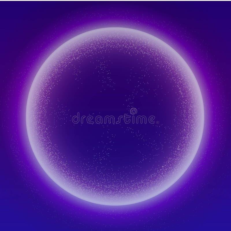 Rozjarzonych cząsteczek ciekły dynamiczny przepływ z rozjarzoną bąbel ramą Modny fluid pokrywy projekt EPS10 wektorowa ilustracja royalty ilustracja
