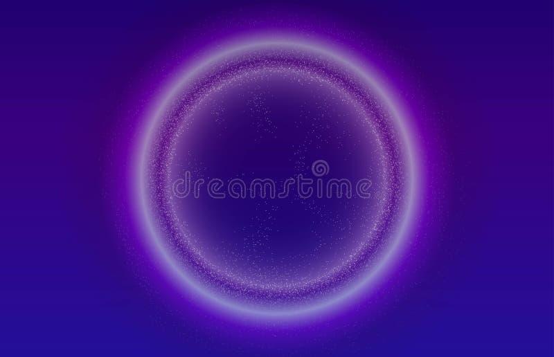 Rozjarzonych cząsteczek ciekły dynamiczny przepływ z rozjarzoną bąbel ramą Modny fluid pokrywy projekt EPS10 wektorowa ilustracja ilustracji