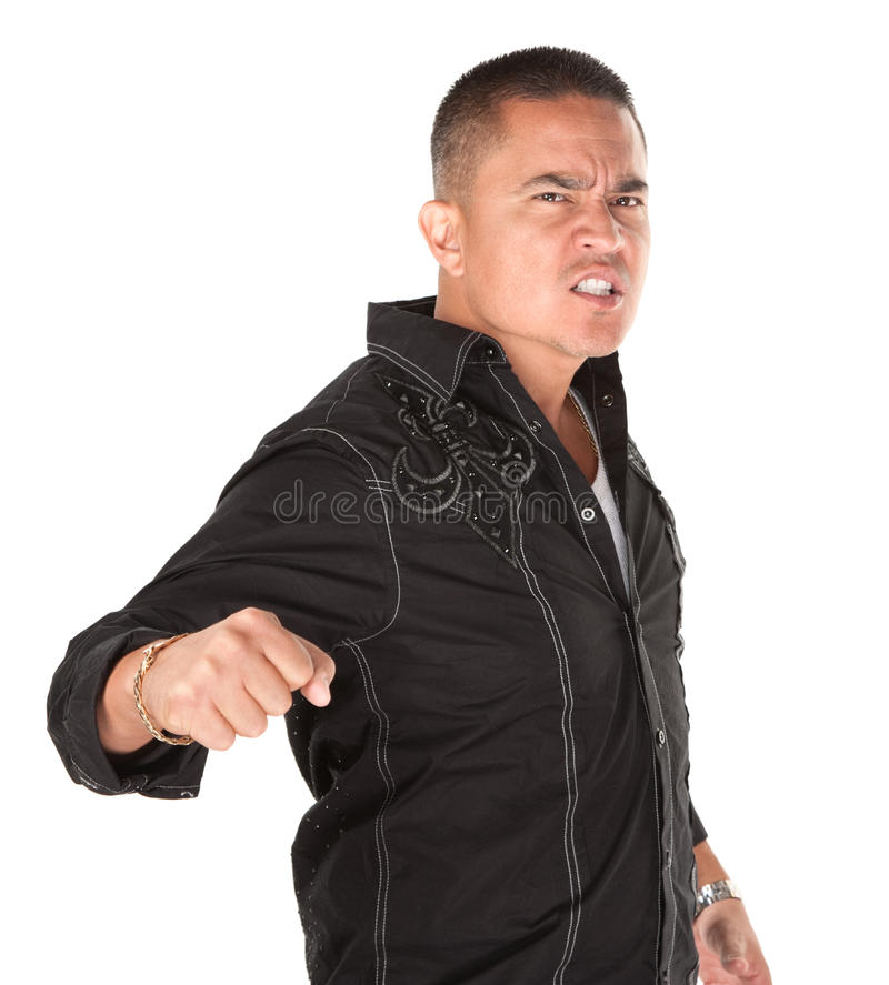 rozjuszony latynoski mężczyzna zdjęcia stock