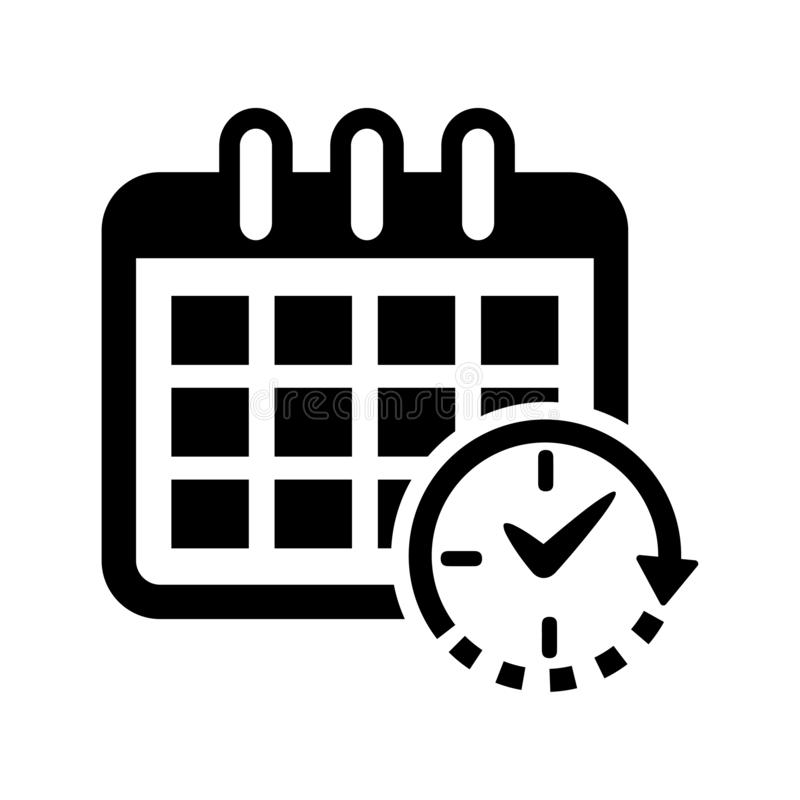 Rozkład ikona, zegar ikona/ royalty ilustracja