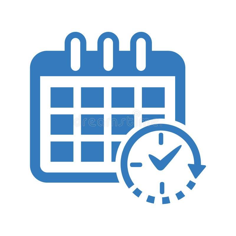 Rozkład ikona, zegar ikona/ ilustracji