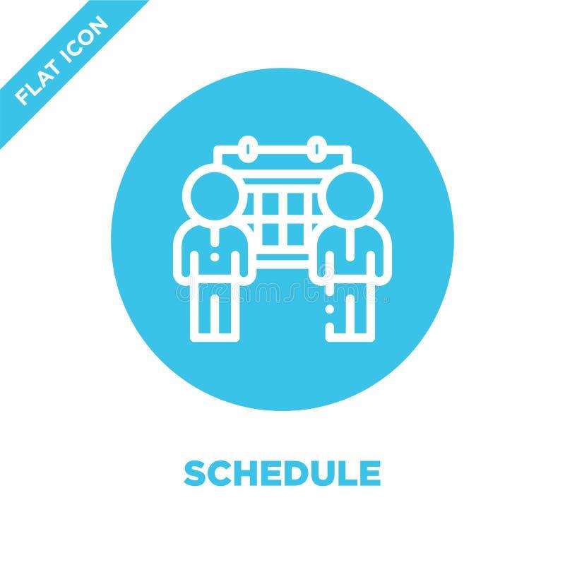 Rozkład ikony wektor Cienka kreskowa rozkładu konturu ikony wektoru ilustracja planuje symbol dla używa na sieci i wiszącej ozdob ilustracji
