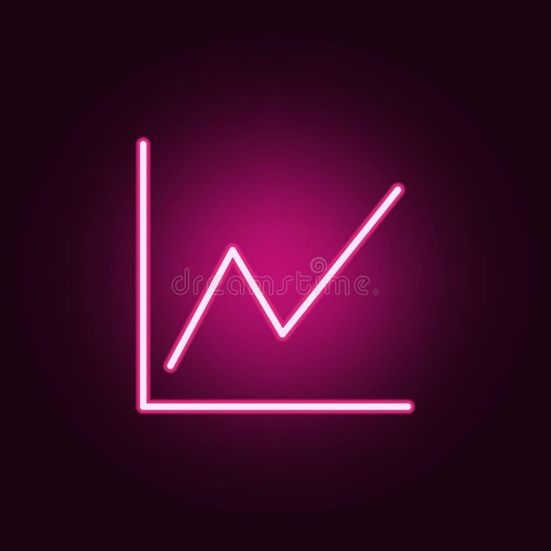Rozkład ikona Elementy sieć w neonowych stylowych ikonach Prosta ikona dla stron internetowych, sieć projekt, mobilny app, ewiden royalty ilustracja