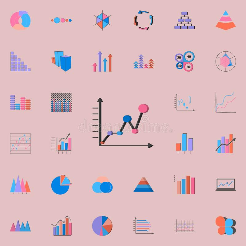 Rozkład ikona Map & Diagramms ikon ogólnoludzki ustawiający dla ilustracji