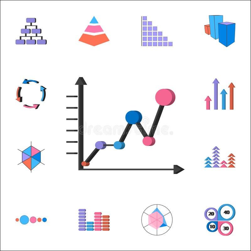 Rozkład ikona Szczegółowy set map & Diagramms ikony Premii ilości graficznego projekta znak Jeden inkasowe ikony dla sieci royalty ilustracja