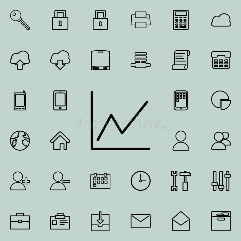 Rozkład ikona Szczegółowy set minimalistic ikony Premia graficzny projekt Jeden inkasowe ikony dla stron internetowych, sieć proj royalty ilustracja