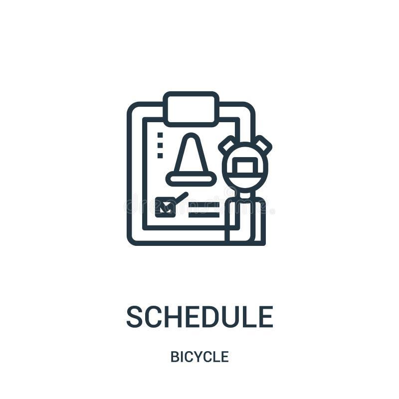 rozkład ikony wektor od rowerowej kolekcji Cienka kreskowa rozkładu konturu ikony wektoru ilustracja Liniowy symbol dla używa na  ilustracji