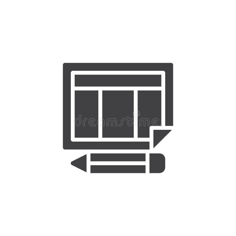 Rozkład kalendarzowa i ołówkowa wektorowa ikona ilustracji