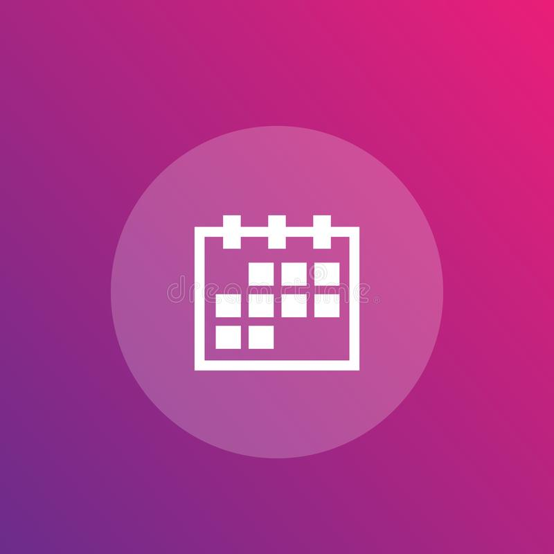 Rozkład, kalendarzowa ikona ilustracji