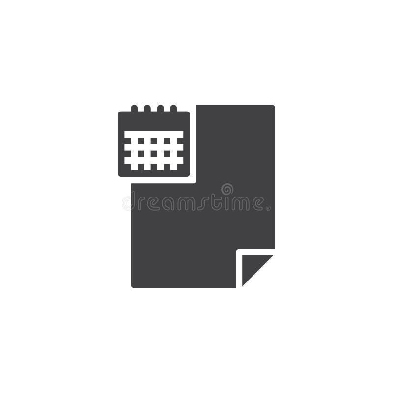 Rozkład kartoteki dokumentu wektoru ikona ilustracja wektor