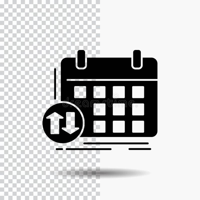 rozkład, klasy, rozkład zajęć, spotkanie, wydarzenie glifu ikona na Przejrzystym tle Czarna ikona ilustracja wektor
